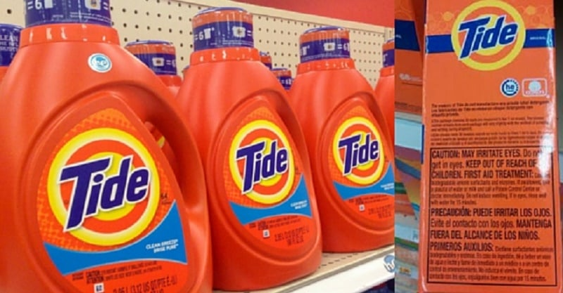 Avoid Toxic Tide Laundry Detergent