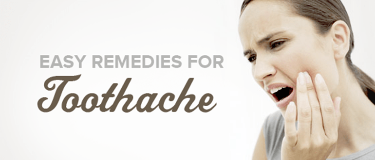 Easy Remedies for Toothache